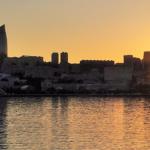 アゼルバイジャン共和国の首都バクー カスピ海 サンセットクルーズ
