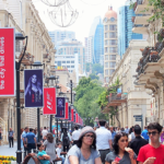 Azerbaijan (8-2) Baku Street アゼルバイジャン ⑧ バクー街並み B