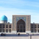 ウズベキスタン サマルカンドの ウルグベク メドレセ